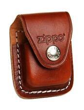 ZIPPO accendino Pouch Brown with clip   ZIPPO LOGO