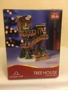 Holiday Time Christmas Village Tree House Snow Fort