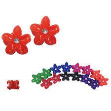 "24pcs Hawaiian Hawaii flower Colorful Hair Claw Jaw Clip Comb Scallop Lot 1.5"""