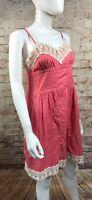 Kimchi Blue Pink Dress Size Medium Urban Outfitters Sundress Sleeveless Lace