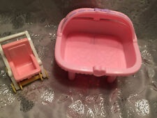 PLAYSKOOL DOLLHOUSE TWIN BASSINET & SINGLE STROLLER