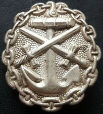 ✚8535✚ Imperial German NAVY Wound Badge in Silver KM Verwundetenabzeichen WW1