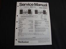 Original Service Manual Technics RS-HD81