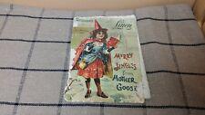 1902 Little Miss Muffet Merry Jingles Mother Goose Antique Linen Children's Book