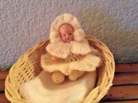 """Vintage 1951 Japan 3.5"""" Jointed Celluoid Baby Doll Excellent Outfit"""