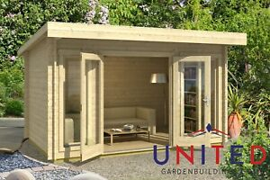 14x8 Catherine Garden Office Summer House Log Cabin With Available Insulated