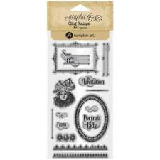 Graphic 45 Cling Stamps – Portrait of a Lady 3 - 14 Stamp Set New