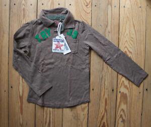 SALE American Outfitters Longsleve Junge braun Gr. 6A / 6 Jahre NEU