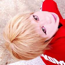 Anime Haikyu!! Volleyball Morisuke Yaku Short Linen Blonde Cosplay Wig E088