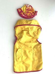 BOOTS & BARKLEY Dog Yellow Rain Coat Jacket & Hat M