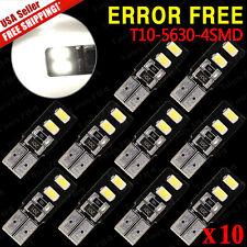 10X Canbus Error Free 6000K White T10 Wedge 192 194 168 LED Light bulbs SMD 5630