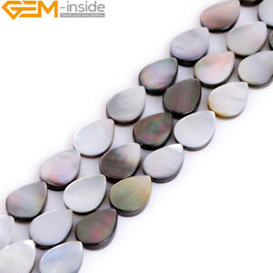 Natural Rainbow Luster Black Lip Shell Beads For Jewelry Making Assorted Shapes