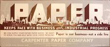 Vintage Blotter Advertisement Postcard Carpenter Paper Co Oklahoma City