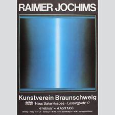 Raimer Jochims. Ausstellungsplakat Kunstverein Braunschweig 1983.