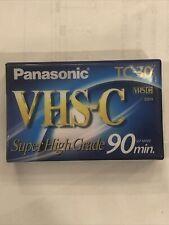 Panasonic TC-30 VHS-C Video Cassette Tape Super High Grade 90 Minute NEW