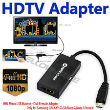 Micro USB MHL to HDMI HDTV Adapter for Samsung Galaxy S3 S4 S5 AD-S4