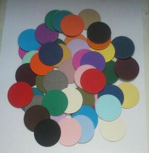 40 Die Cut Circles In Coloured Card-6cms