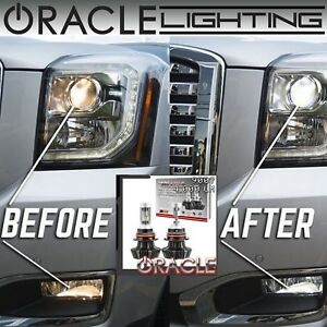 ORACLE 9007 HB5 Hi/Lo LED Headlight Bulbs (Pair) - 4,000 Lumen - White 6000k