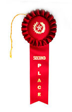 2nd SECOND PLACE DeLuxe Rosette BEST Quality Award Ribbon 3.5Wx10L FAST SHIP!