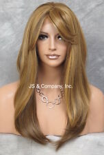 Long Straight Lace Front Wig Blonde Tangerine Brown bangs HEAT SAFE Wig HSO 2016