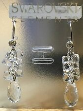 925 Sterling Silver SWAROVSKI ELEMENTS Crystal Dangle Earrings