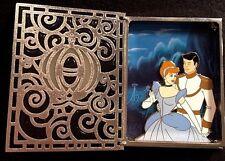Disney Storybook Princess Cinderella & Prince Charming Stained Glass Jumbo Pin!!