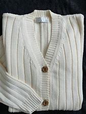 Women's BEST BASICS Two pockets cream color cardigan  size 10/12 BNWOT