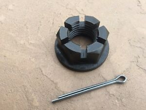 Rhino Rotary Cutter Gearbox Flanged slotted Nut w. cotter pin, # 00777874 11-050
