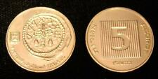 WHITE GOLD Plated Ancient Widow's Widows Mite on Israel Israeli 5 Agorot Coin