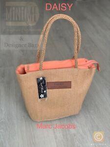 Marc Jacobs DAISY Hessian Tote Shoulder Bag Shopping Beach Woman's Bag NEW!!