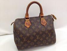Auth Louis Vuitton Monogram Speedy 25 Boston Hand Bag Brown 8F130490K