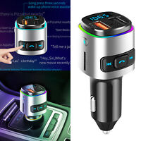 Bluetooth Car Wireless FM Transmitter MP3 Radio Adapter Car Kit 2 USB Charger