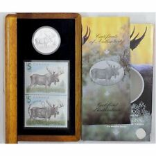 Canada 2004 Rare Moose  $5 Fine Proof Silver Coin & Stamp  RCM Set.
