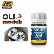 NAVAL Weathering DARK WASH for WOOD DECK Enamel 35ml - AK Interactive 301