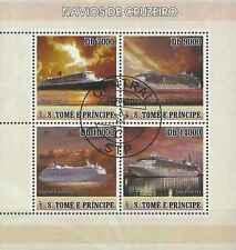 Timbres Bateaux St Thomas et Prince 2292/5 o année 2007 lot 19325 - cote : 7 €