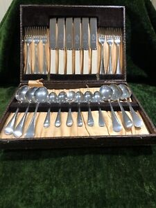 VINTAGE CUTLERY SET BY AJ & CO FIRTH STAINLESS BEST SHEFFIELD