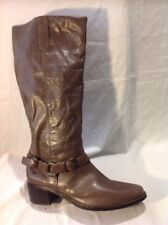 F&F Signature Brown Knee High Leather Boots Size 7