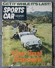 SPORTS CAR GRAPHIC MAGAZINE 1971 JUNE TRIUMPH SPITFIRE MARK IV MONARCH ROADSTER