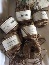 Vintage 100% Rayon Taupe/ Brown Silky Yarn Knitting Crochet Macrame Thread Ball
