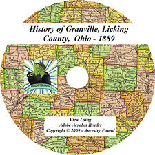 1889 History of Granville, Licking County Ohio OH