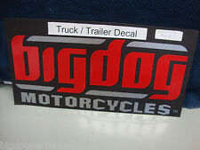 BIG DOG MOTORCYCLES LARGE TRUCK TRAILER DECAL STICKER RED SIGNATURE LOGO