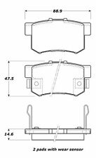 Centric Disc Street Brake Pad Set Rear For 91-12 Acura/Honda/Isuzu #308.05360