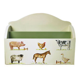 Country Life Farm Wooden Personal Mail Storage Organiser Business Letter Rack