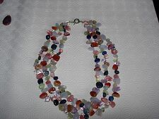 gemstone five stone quality three string necklace new line