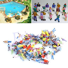 New 100x 1:100 Building Layout Model People HO Scale Painted Figure Passenger