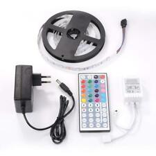 Ruban Lumineux LED RGB 2M 5050 SMD LEDS Adapteur Strip Light + télécommande
