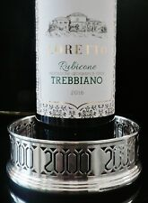 Silver Wine Coaster, percé 2000, année W je Broadway & Co