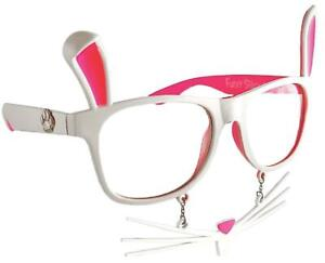 SUNSTACHE BUNNY EASTER RABBIT FUN GLASSES WITH EARS AND NOSE COSTUME SG1040