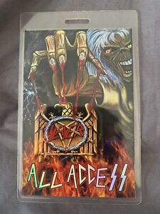 Iron Maiden- Slayer Latin America Tour Laminate!!
