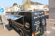 21ft by 12ft Mobile Catering Van with solar panels for Sale